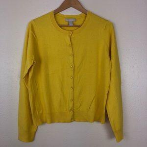 Banana Republic Mustard Yellow Cardigan Size XL